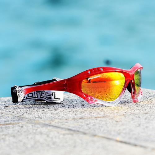 Pro Goggles Red Fade Frame/Revo Lens Sunglasses PWC Jetski Racer