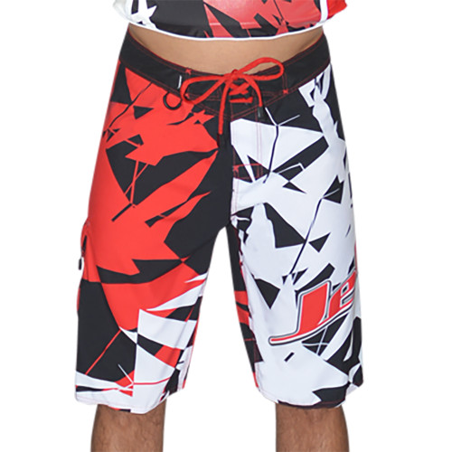 Shattered Men's Board Shorts Red PWC Jetski (Size 28 Only - Clearance)