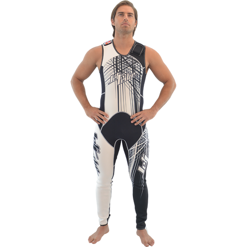 Spike Wetsuit White / Black | Closeout Style | PWC Jet Ski Ride & Race Freestyle