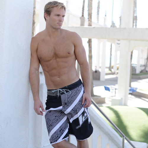 Jazz Men's Board Shorts Grey | Youth Size 28 Only | Closeout