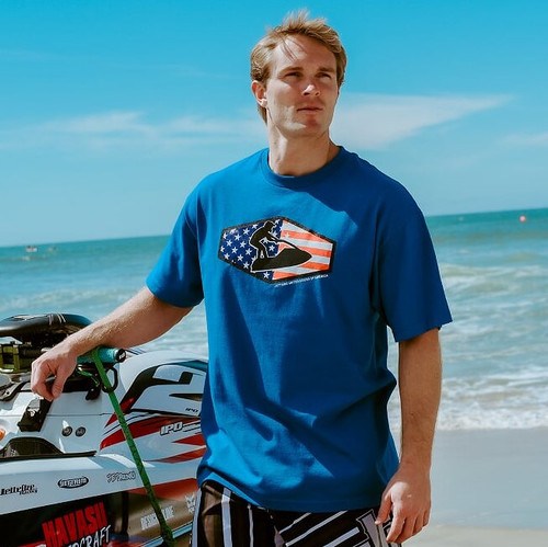 Men's Stand Up Star T-Shirt PWC Jetski Ride & Race Apparel