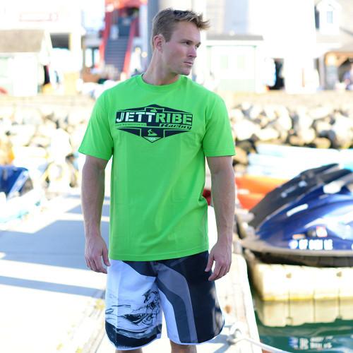 Men's 1996 Green T-Shirt PWC Jetski Ride & Race Apparel