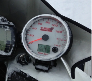 TD performance meter and GPS speed gauge