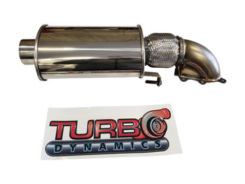 2017 to 2020 Turbo Dynamics TurboForce 2.5 exhaust system for Thundercat Sidewinder ZR9000 turbo