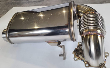 "Turbo Dynamics 3"" Super Quiet muffler for Yamaha Sidewinder SRX Thundercat ZR9000"