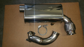 """TD 3"""" Intimidator FULL Exhaust with 3"""" turbo outlet V-band for 2012-2016 procross 1100 turbo F/XF/ZR9000"""