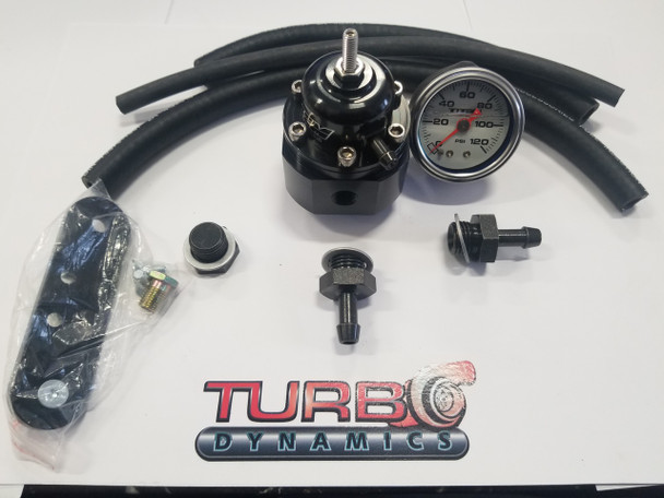 Adjustable Fuel pressure regulator KIT with Fuel gauge for 2017 to 2020 Yamaha Sidewinder SRX and Thundercat ZR9000