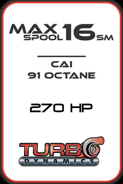 ECU reflash Max Spool 16 CAI Stock Muffler edition (SM) 270HP 2017-2021+