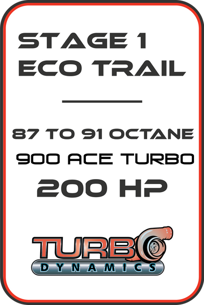 TD Stage 1 900 ACE turbo Ecotrail 200hp + Performance package