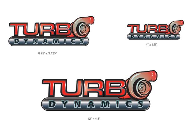 Turbo Dynamics Decals/ Sticker 3M