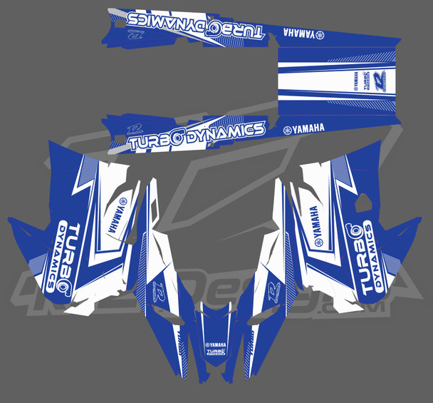 Turbo Dynamics Complete sled wraps for Yamaha 2017-2021+ by R12 design