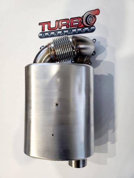 "TD 3"" Super Mod stock muffler  (Stage 3 ultra quiet for 998 turbo sleds, SRX Sidewinder Thundercat ZR9000 )"