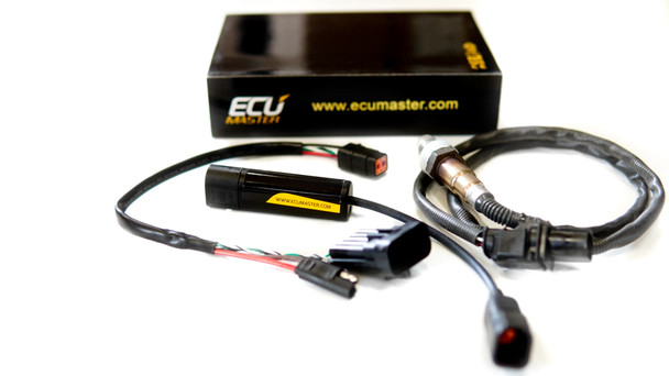 ECU Master Wideband O2 Sensor (pre-wired and plug in) for closed loop system, flasher or dash re-flash.