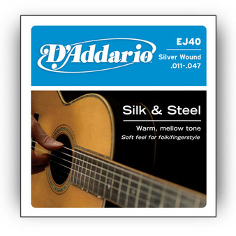 D'Addario EJ40 Silk & Steel Acoustic Guitar Strings