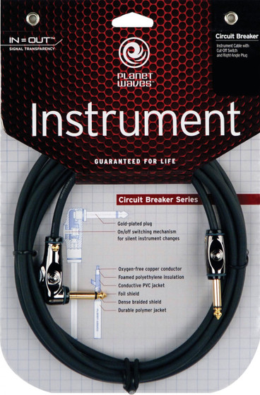 D'Addario Planet Waves Circuit Breaker Instrument Cable