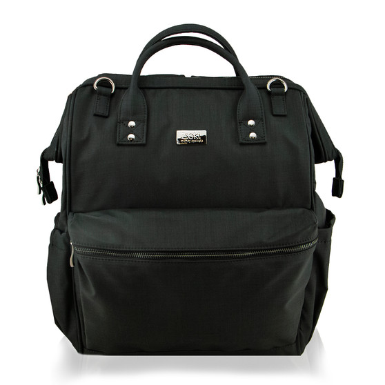 """Back and better than ever!! Our brand new Byron Backpack is the ultimate """"Hands Free"""" option for mums on the go!"""