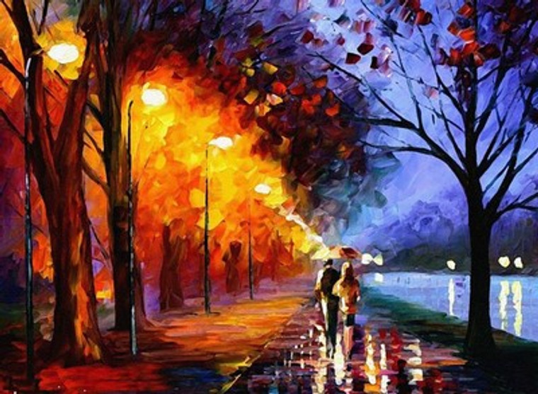 Romantic Walk Under Rain