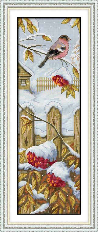 Cross Stitch Kits - Bird in Winter