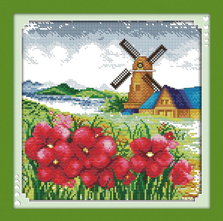 Cross Stitch Kits - Windmill Spring Town