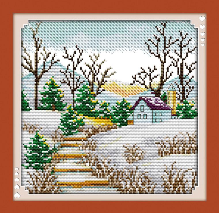 Cross Stitch Kits - Winter Korean Town