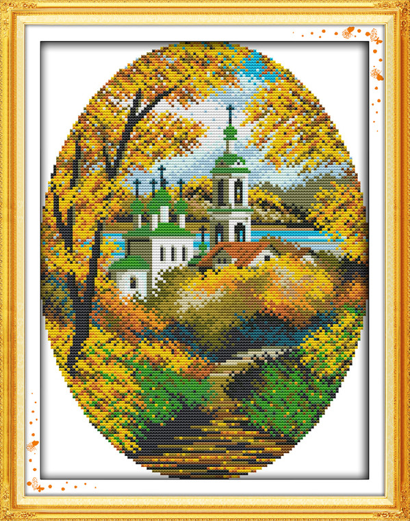 Cross Stitch Kits - Autumn Coastal