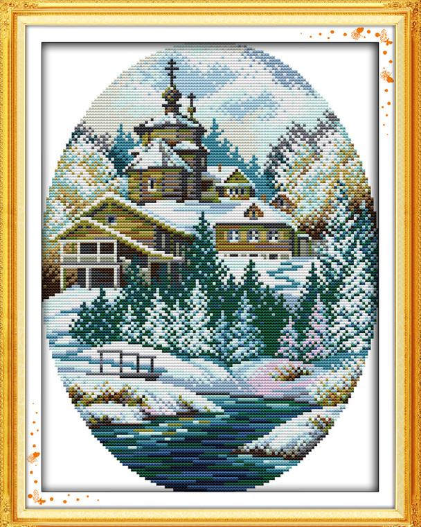 Cross Stitch Kits - Winter Coastal