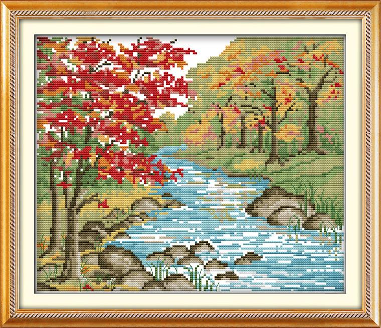 Cross Stitch Kits - Autumn Landscape