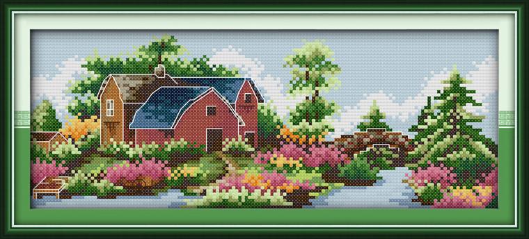 Cross Stitch Kits - Spring Castle
