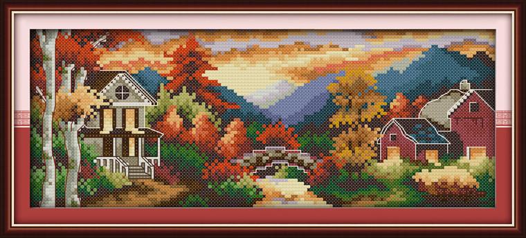 Cross Stitch Kits - Autumn Castle