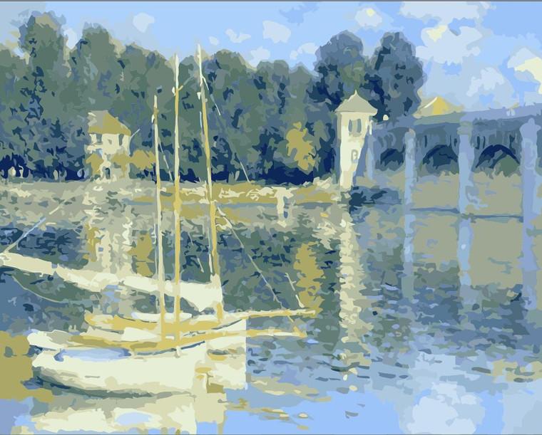 Bridge at Argenteuil by Monet