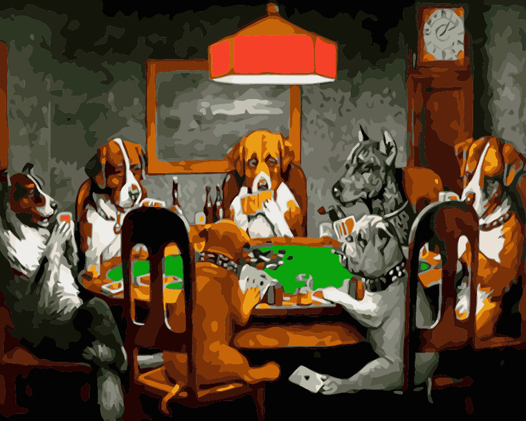 Dogs Playing Poker by Cassius M Coolidge