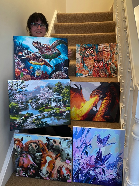 Paint by Numbers - Art Collection by Sharon Edwards