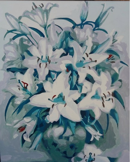 Paint by Numbers - Blue Lily by Joan M