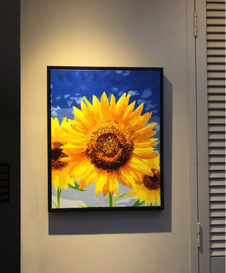 Paint by Numbers - Blue Sky and Sunflowers by Techie Cruz