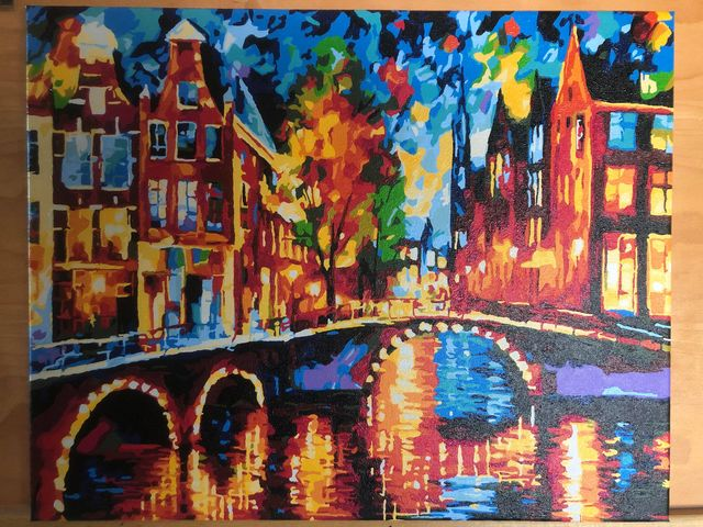 Paint by Numbers - The Bridges of Amsterdam by Linda S