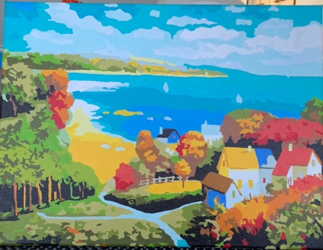 Paint by Numbers - Colourful Beachside by Bob McPhan
