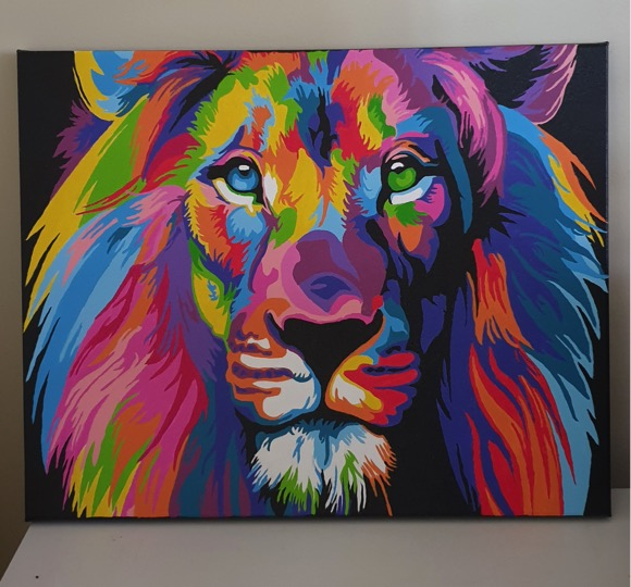 Paint by Numbers - Colourful Lion by Lizelle Wraight