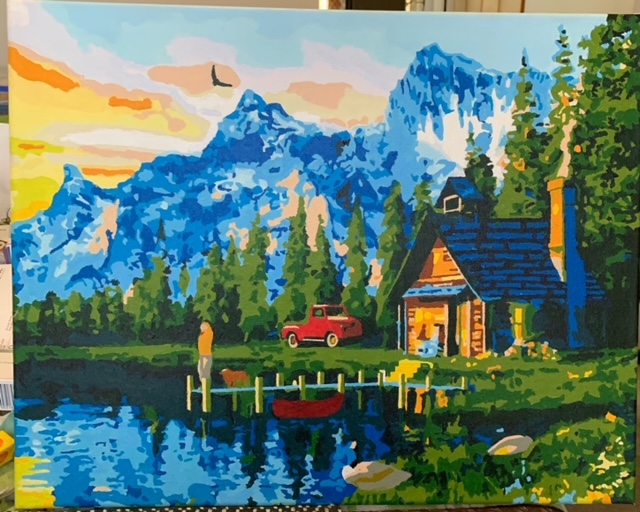 Paint by Numbers - Cottage by the Lake by Bob McPhan