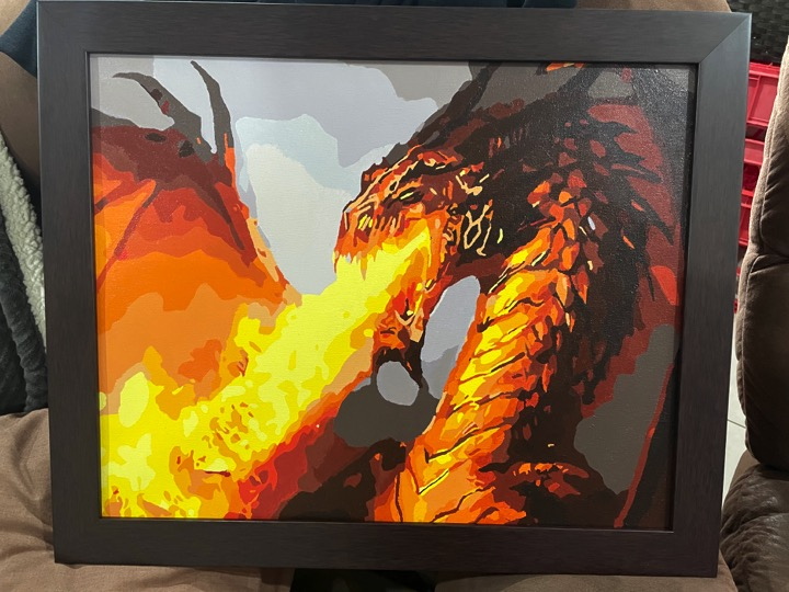 Paint by Numbers - Dragon by James and David McRoberts