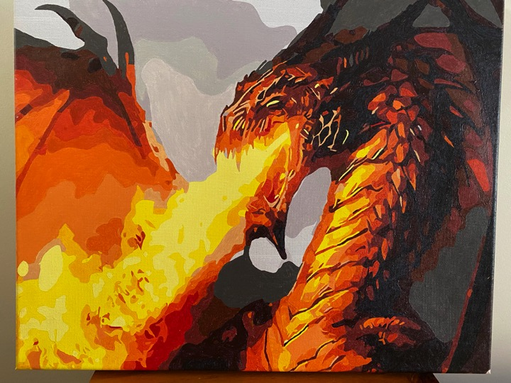 Paint by Numbers - Dragon by Sharon Edwards