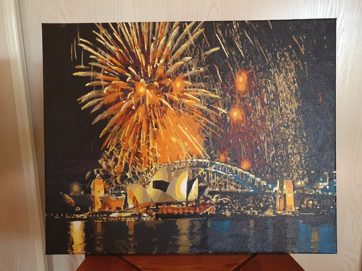 Paint by Numbers - Fireworks at Opera House by Novita L