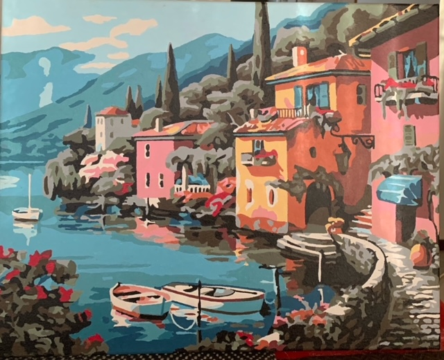 Paint by Numbers - Houses by the Riverside by Bob McPhan