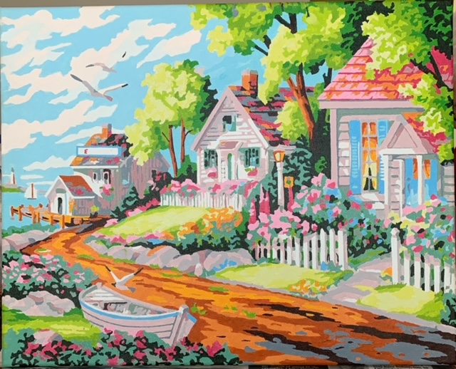 Paint by Numbers - Leafy Beach House by Bob McPhan