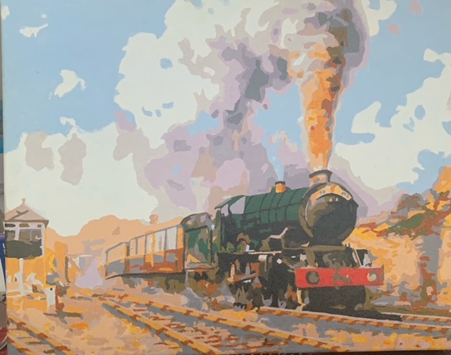 Paint by Numbers - Locomotive by Bob McPhan