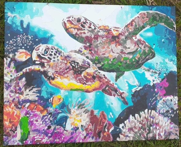 Long Life Turtles by Teresa De Z