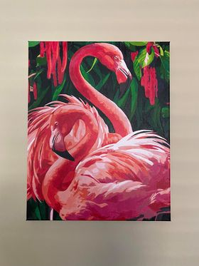 Paint by Numbers - Red Flamingo by Jane Dean