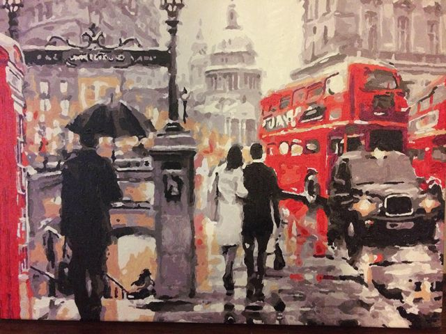 Paint by Numbers - Street in London by David Percy