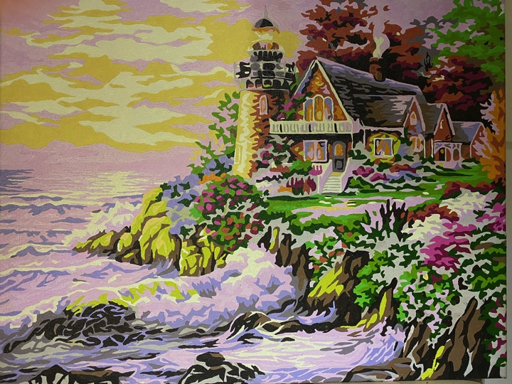 Paint by Numbers - Sunset Lighthouse by Sharon Edwards