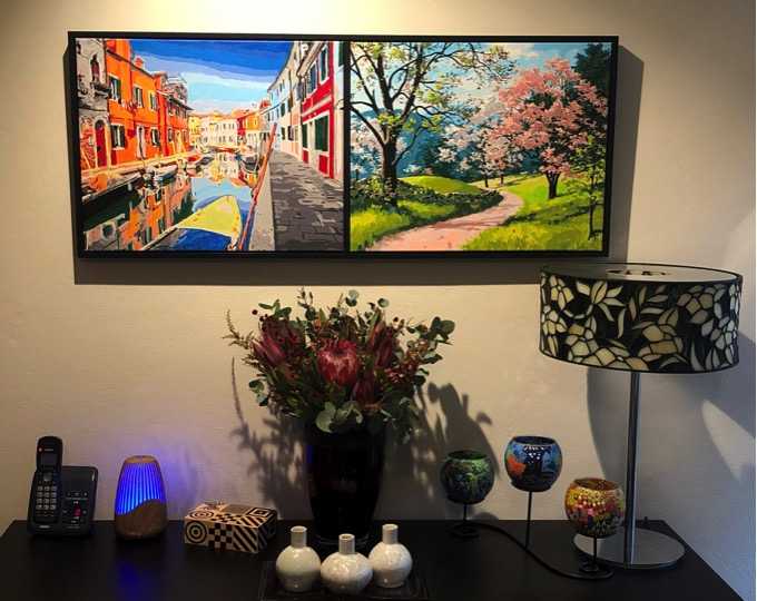 Paint by Numbers - Venice and Cherry Blossom by Techie Cruz