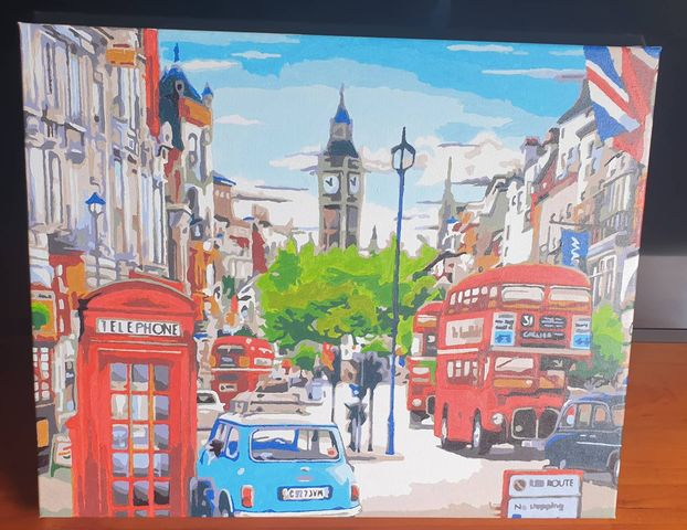 Paint by Numbers - Vibrant London by Lisa Curtis
